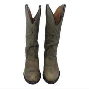 ACME leather western boots tan light brown Sz 6.5